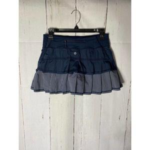 Lululemon Run Pace Setter Skirt  Inkwell/ Wagon Stripe